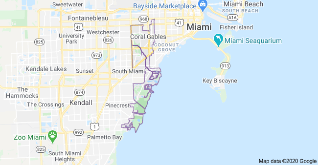 Coral Gables Map